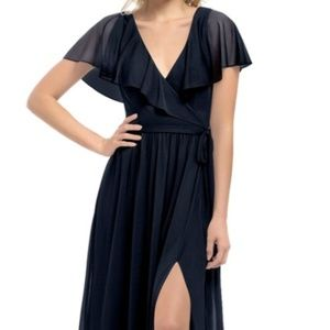 Azazie Jael in Dark Navy Bridesmaid Dress